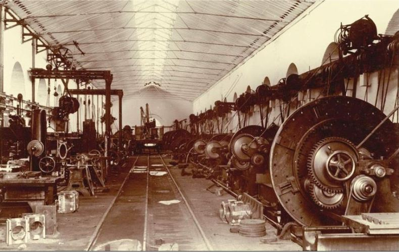 Turning Shop (1st Bay), at Jamalpur Railway Workshop in 1897 Picture by: Subrata Nath