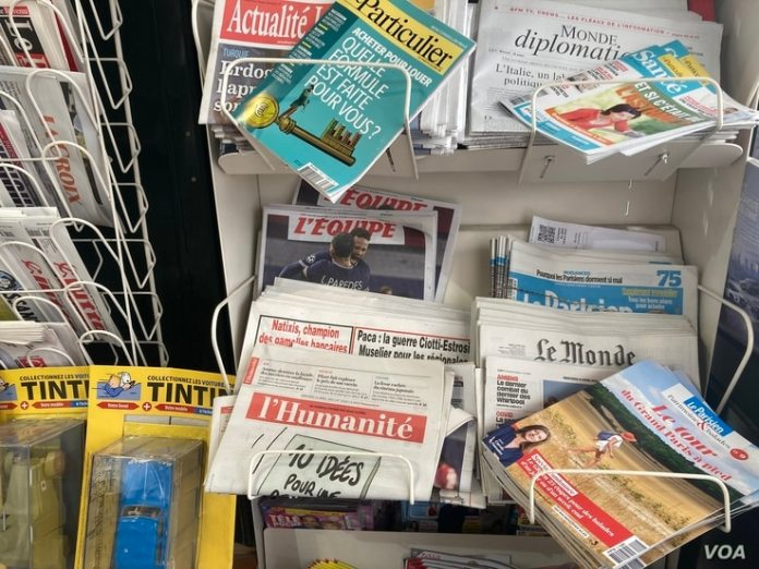 The newspaper Lefitst l'Humanite was once owned by the Communist Party with a circulation of half a million.  He still maintains