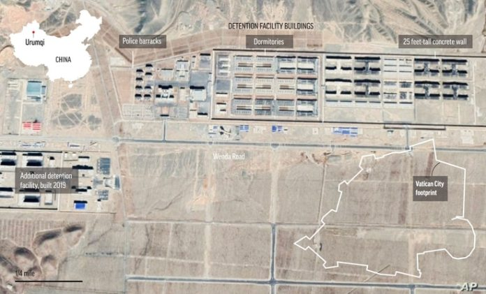 China's Urumqi No. 3 Detention Center (Imagery@2021 CNES/Airbus, Maxar Technologies, Google Earth)