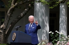 U.S. President Joe Biden delivers remarks during an event to celebrate the 31st anniversary of the Americans with Disabilities…