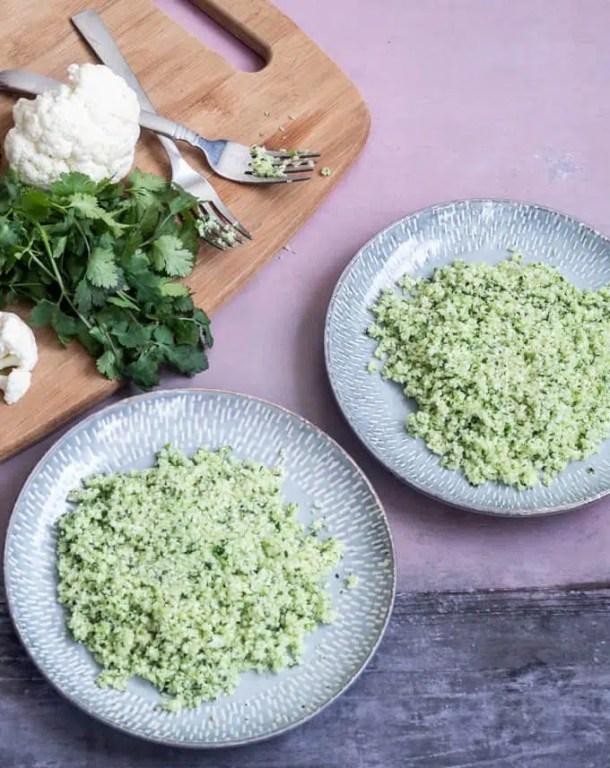 how to make cilantro cauliflower rice