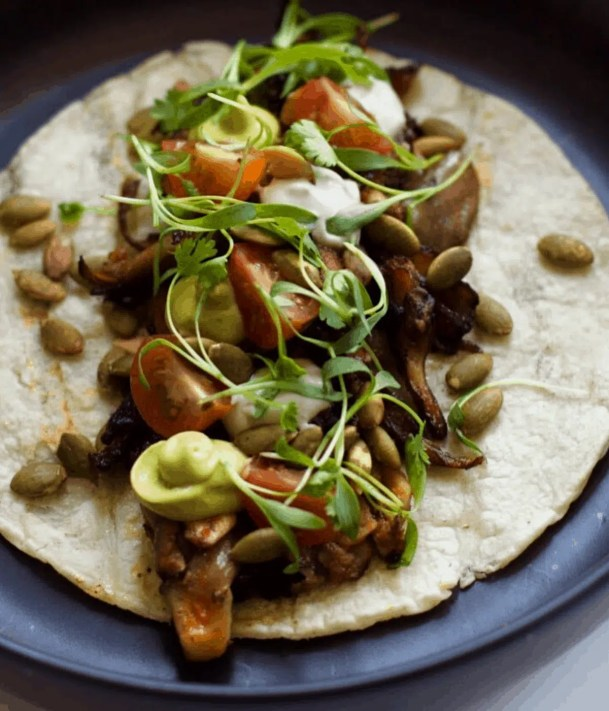 Vegan Barbacoa Tacos at Althea restaurant in Chicago
