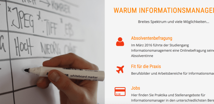 Neue Website für Informationsmanagement online