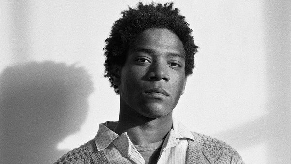 The artist Jean-Michel Basquiat pictured in 1984