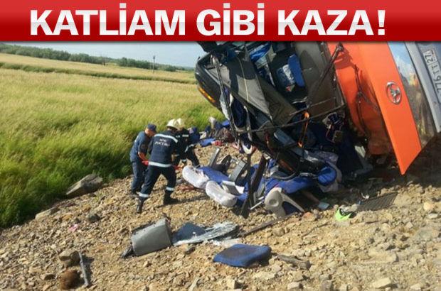 Rusya'da iki otobüs çarpıltı. 16 kişi yaşamını yitirdi 60 kişi yaralandı