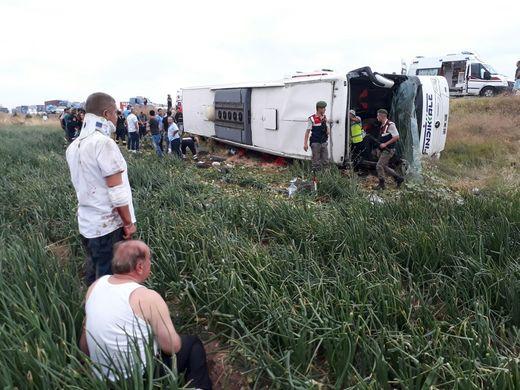 ВТурции перевернулся пассажирский автобус. 5 человек погибли