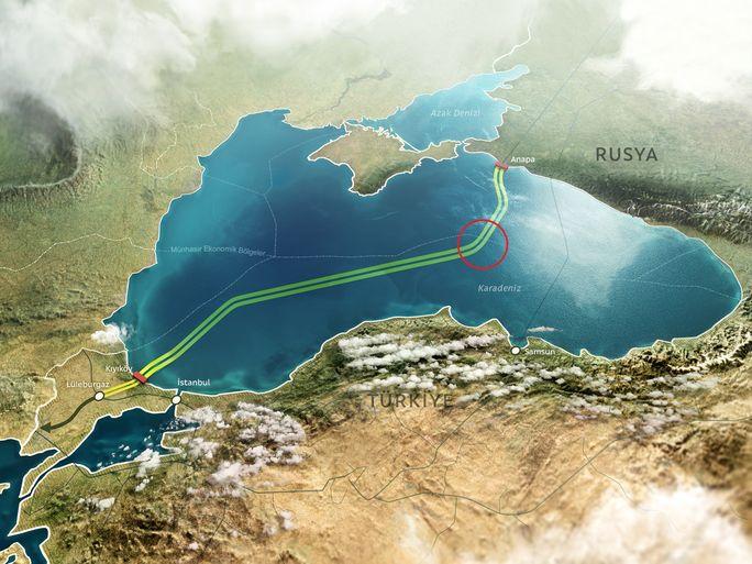 Газопровод «Турецкий поток» пересек границу Турции