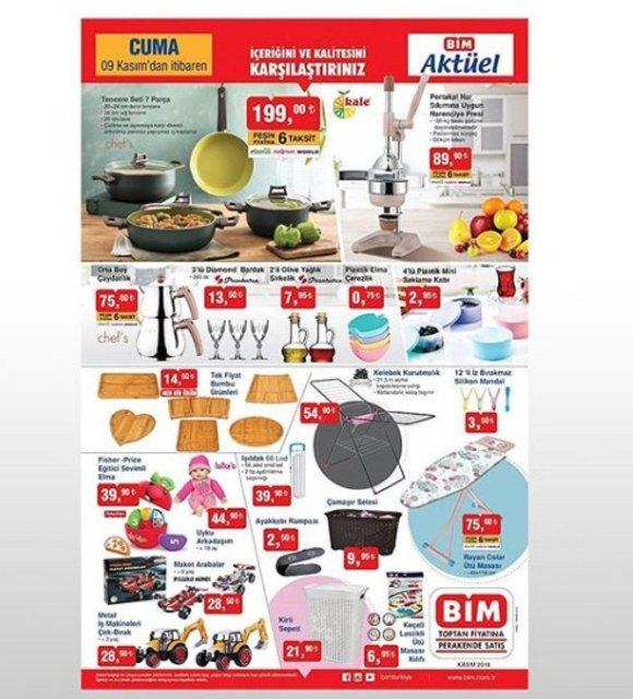 BİM 9 Kasım Aktüel ürünler bugün satışta! BİM bu hafta hangi spot ürünleri satışa sundu?