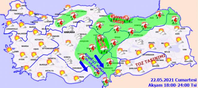 SAĞANAK! Son dakika Meteoroloji uyardı: Şiddetli sağanak geliyor - 22 Mayıs Hava Durumu Haberleri 17