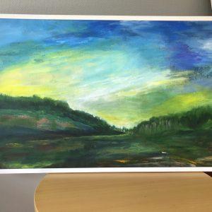 Gröna vidder, akryl, 88 x 58
