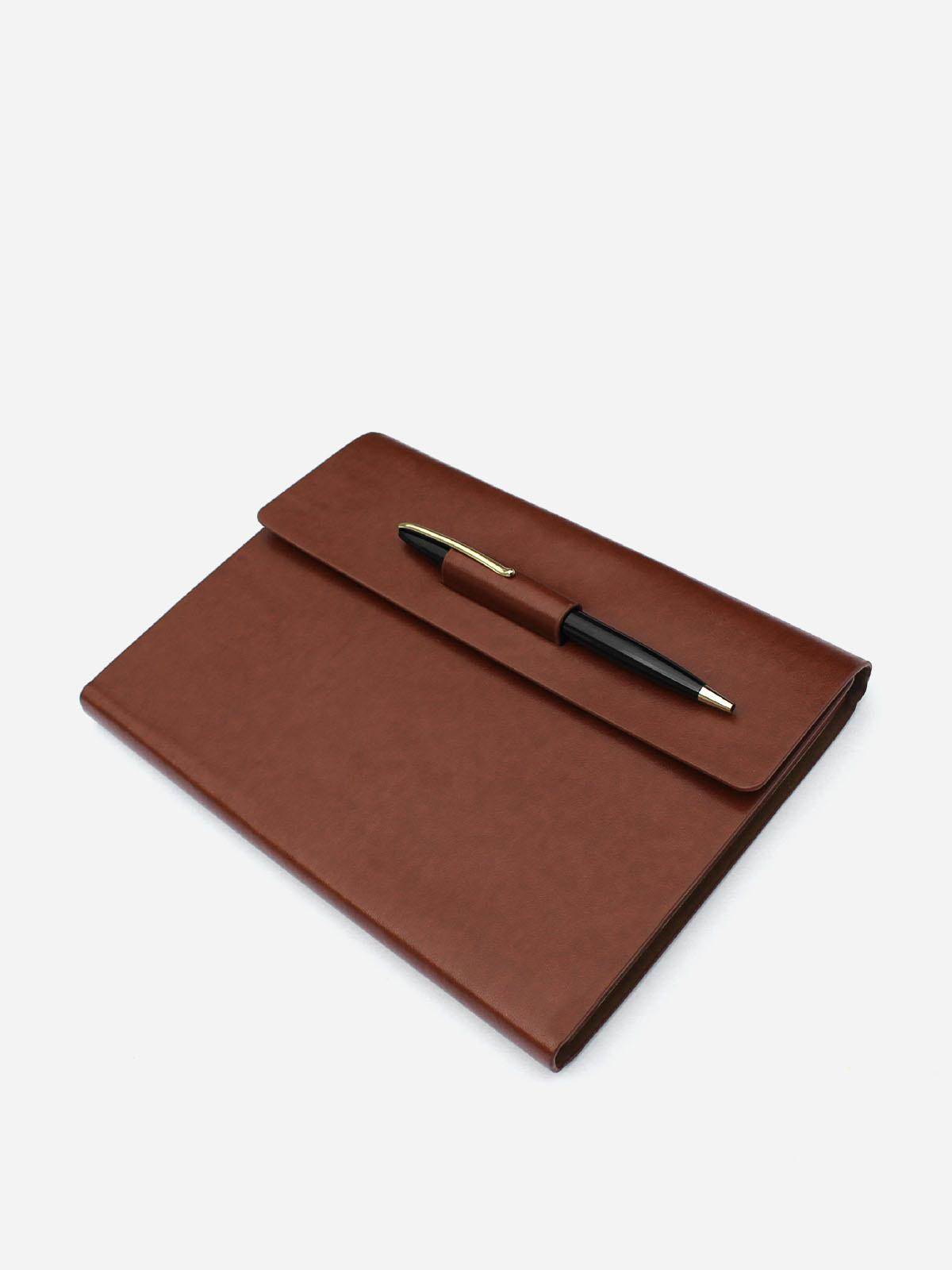 leather journal with pen holder