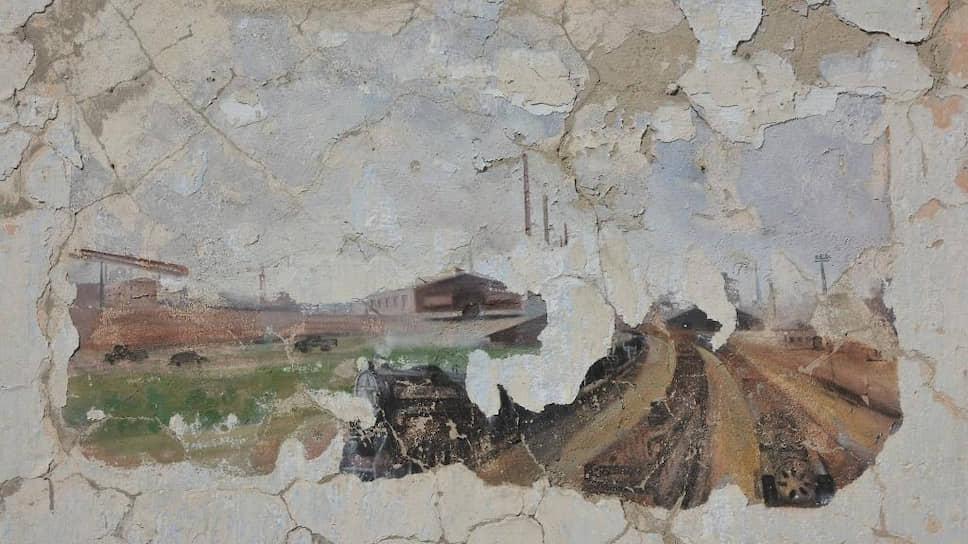 Фрагмент фрески в столовой «Степлага»