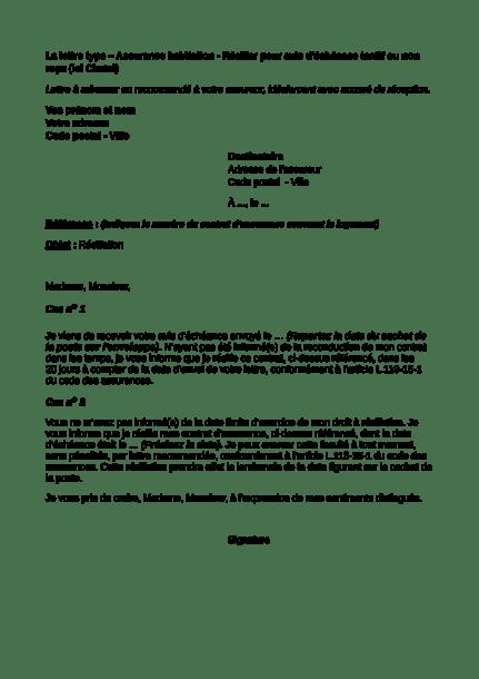Assurance Habitation Résilier Pour Avis Déchéance Tardif