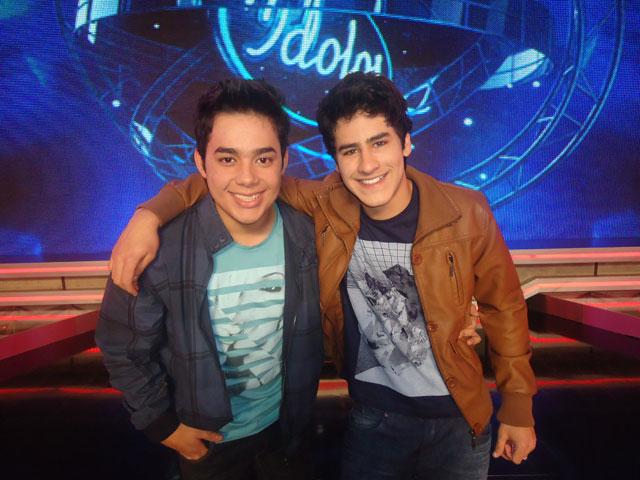 Henrique Lemes e Higor Rocha do Ídolos 2011
