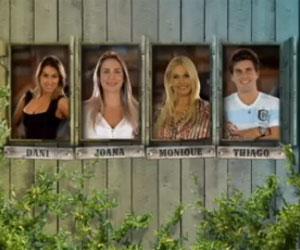 Dani, Monique, Thiago e Joana estão na Roça