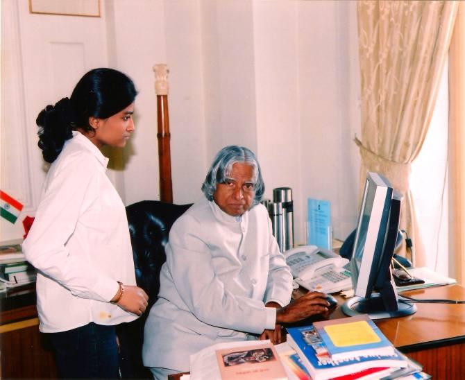Malvika Iyer with Dr APJ Abdul Kalam