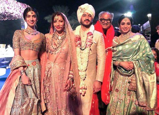 Sridevi at Mohit Marwah wedding