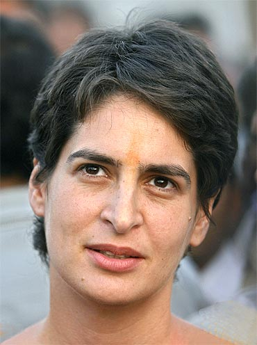 Only Priyanka Can Rescue Party Say Cong Protestors
