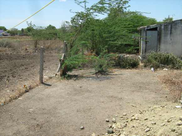A fence seperates the Dalit colony from the rest of the village