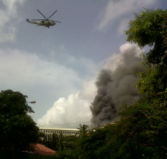 Navy helicopters join in rescue efforts