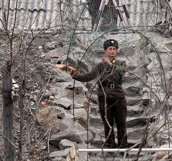 PLA troops in Ladakh.