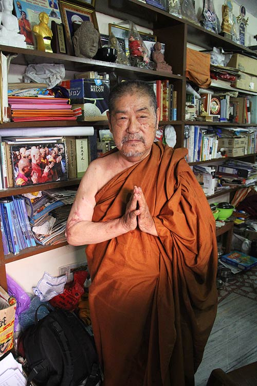 Japanese-born Buddhist monk Surai Sasai, who has issued an edict that Buddhists not vote for Nitin Gadkari.