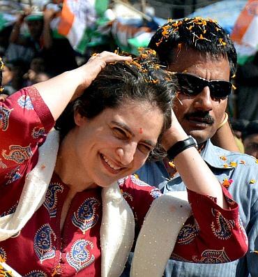 Upset with SPG, Priyanka breaks security cordon - Rediff ...