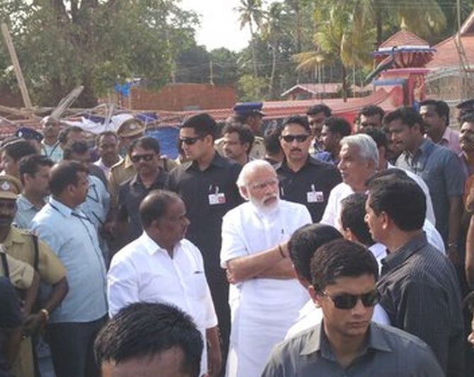 Prime Minister Narendra Modi arrived in <b>Kollam</b> on Sunday to take stock ...