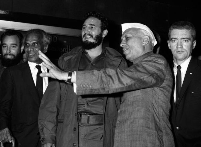 Image result for fidel castro and nehru