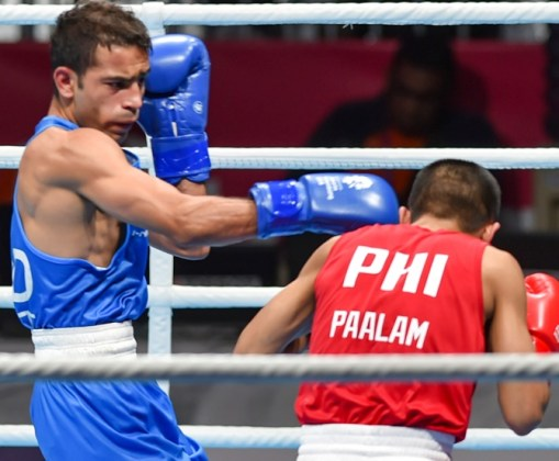 Asiad Boxing  Amit soldiers into final  injured Vikas settles for     Amit Phangal