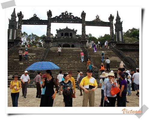 越南景點|啟定皇陵