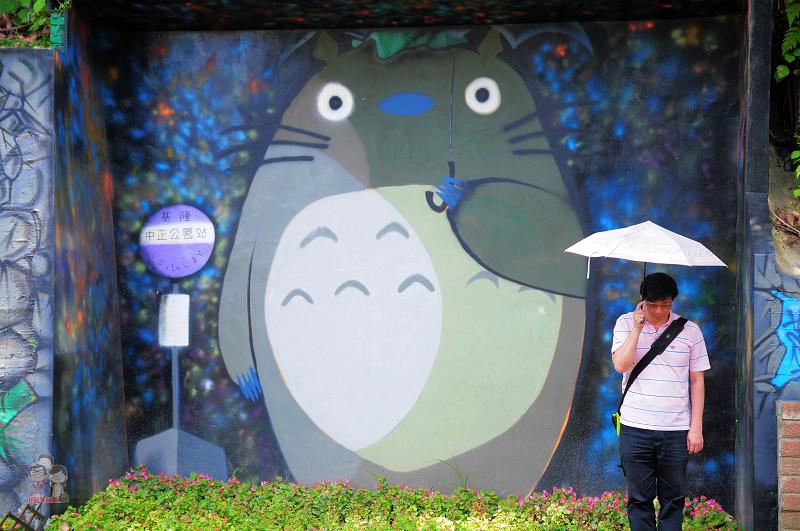 基隆中正公園 跟龍貓一起等公車