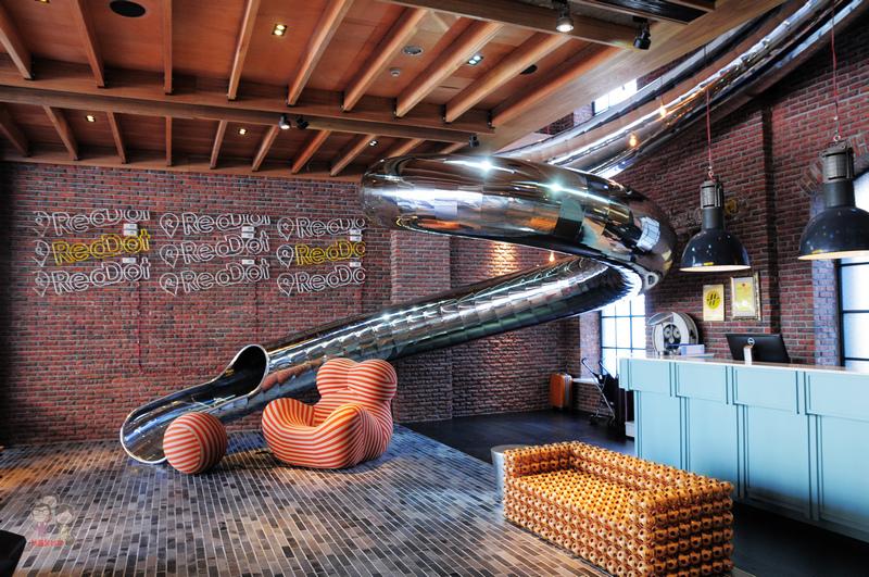 台中住宿|紅點文旅.把溜滑梯搬進大廳的新潮旅店