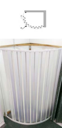 pvc folding shower enclosure