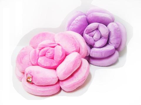 plush rose flower cushion bedroom