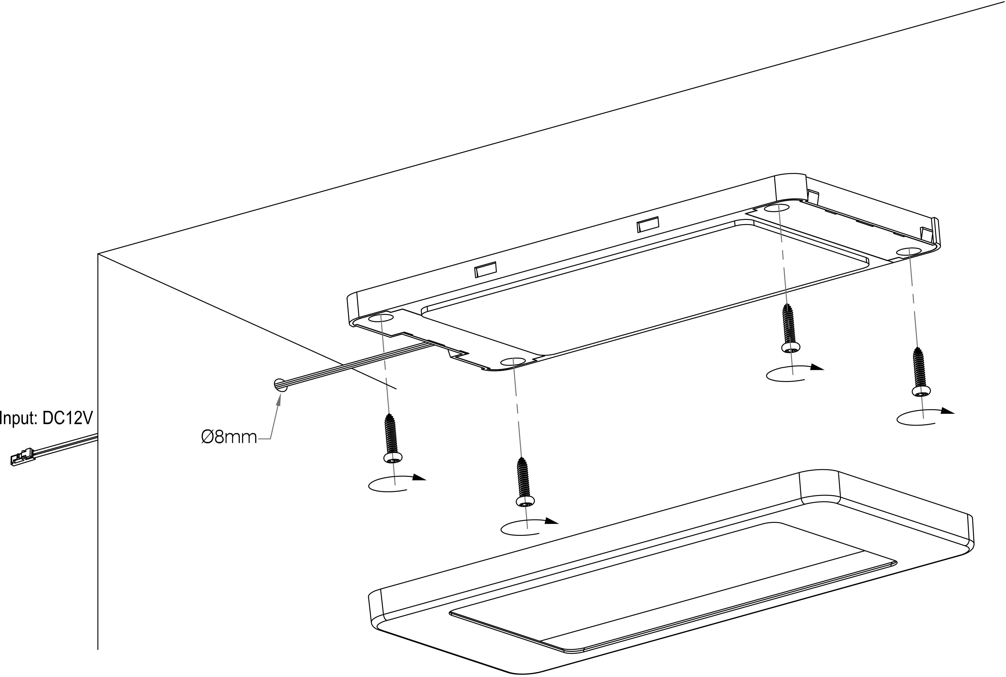 Movement Sensor Rip Sensor Switch Led Under Cabinet Light