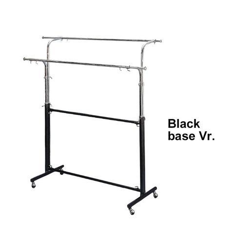 metal double rail clothing display rack