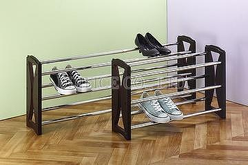 3 tier stackable extendable shoe rack