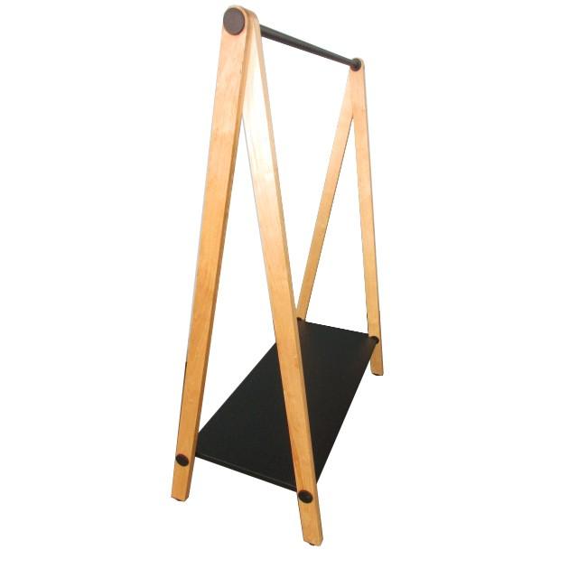 wooden clothing rack display hanger