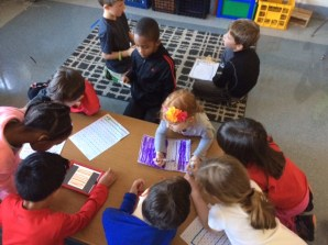As we Skyped with a third grade class from New Jersey, we recorded data based on the questions we asked to find out their Mystery Number.
