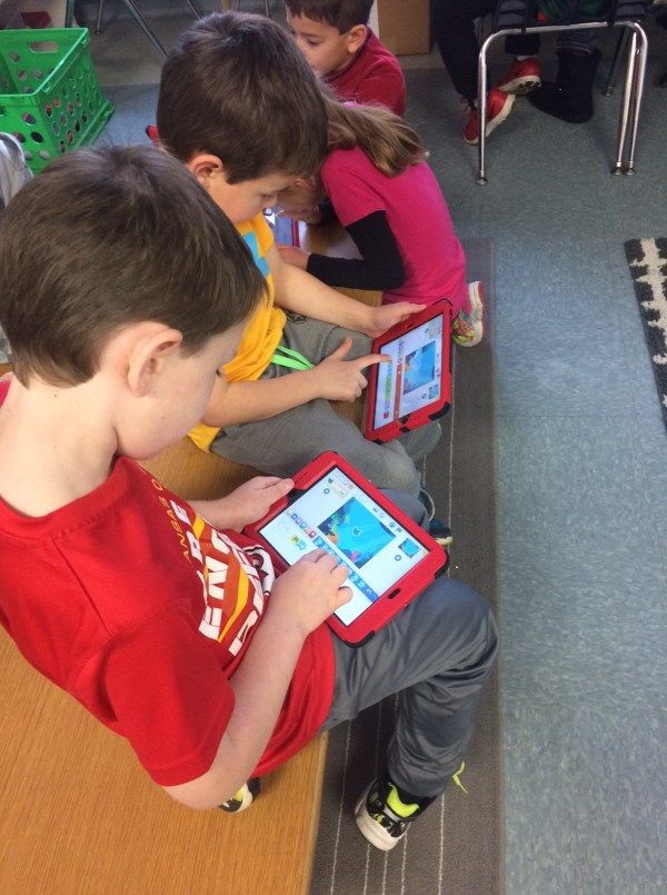 Check out these first grade CODERS!