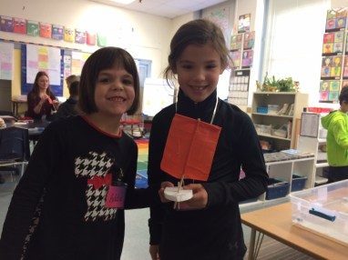 First grade sailors worked to create their own sailboat.
