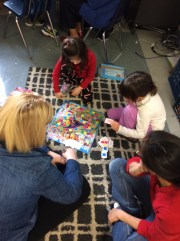 Families came to play board games with us on our last day of school before Winter Break.