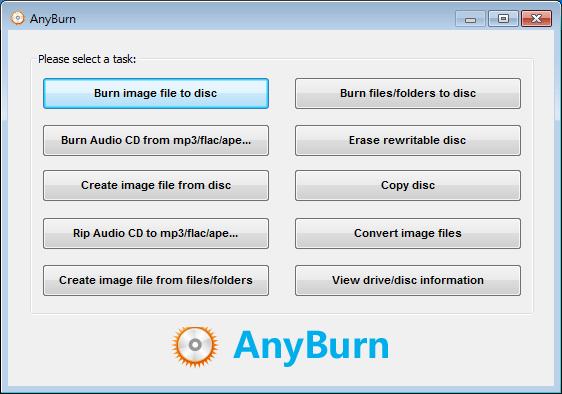 燒錄軟體免費免安裝下載 全功能燒錄 AnyBurn01