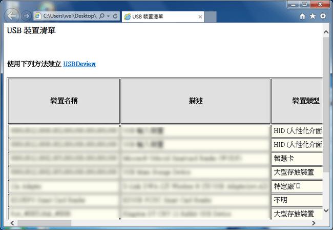 查看電腦usb使用紀錄 USBDeview02