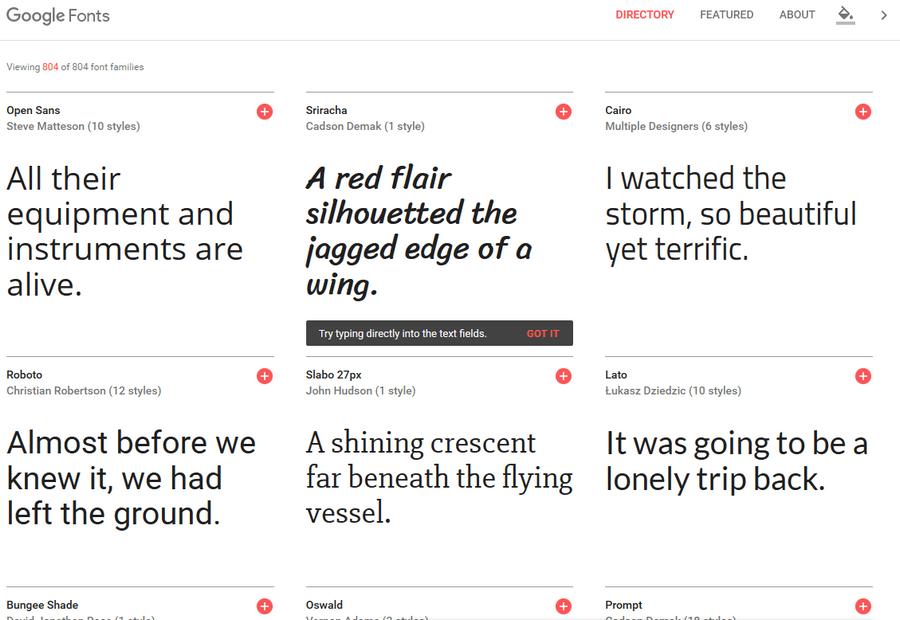 免費字體下載 Google Fonts字體集更新01