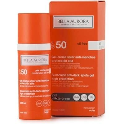 Bella Aurora Gel Solar Antimanchas SFP50