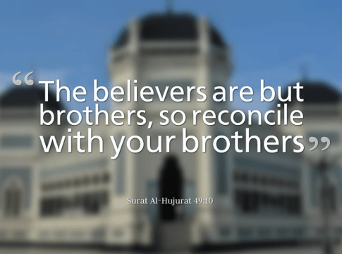Believers are brothers.