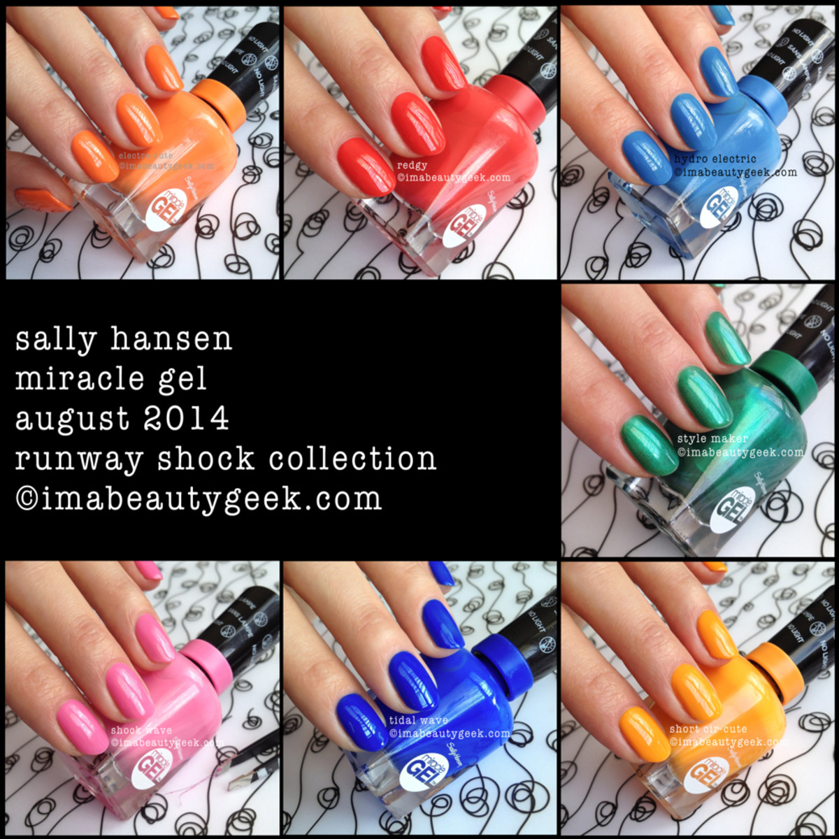 Sally Hansen Miracle Gel Swatches Runway Shock Collection