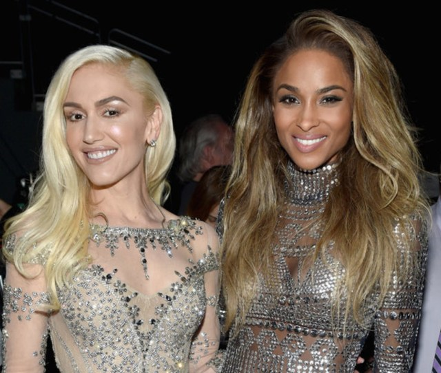 Gwen Stefani Nude Makeup With Ciara_ Billboard Music Awards